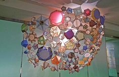 Kirsten Hassenfeld - beautiful paper gems sculptures http://beautifuldecay.com/2013/06/24/kirsten-hassenfelds-fragile-ethereal-paper-gems/…