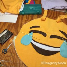 Big laughs in the studio this morning with a custom Emoji costume.  we have emoji hats for adults and kids and infant capelets I stock.   MAKE GREAT GROUP COSTUMES.   Need something special? Just ask.