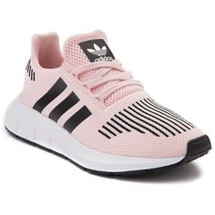 Tween adidas Swift Run Athletic Shoe ($99) ❤ liked on Polyvore featuring shoes, athletic shoes, adidas shoes, laced up shoes, lightweight shoes, adidas footwear and knit shoes