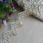 2yard spun gold organza sewing Lace fabric Trim DIY handcraft dress doll L658 - #dress, #handcraft, 2yard, doll, fabric, Gold, L658, Lace, Organza, Sewing, spun, trim