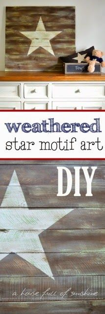 DIY Rustic star motif wall art from A house full of sunshine