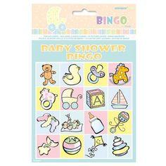 Baby Shower Bingo Game  First to shout bingo wins!