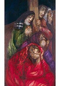 Amigos de Jesús bajo la cruz
