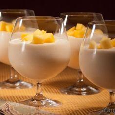 Mango Yogurt Mousse by AFamilyFeast