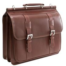 Siamod Signorini Leather Double Compartment Laptop Case 2559