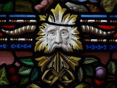 Green Man Mid Wales Nr Machynlleth Pennal Church Photo taken by Jennie Miller