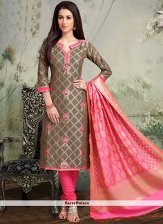 Party Wear Designer Salwar Suit, top material different like Cotton base or Silk base, Bottom Material Cotton Cambric, Dupatta material Art Banaras Jaquard, Chudidhar Designs, Chudidhar Neck Designs, Neck Designs For Suits, Designs For Dresses, Dress Neck Designs, Neckline Designs, Salwar Suit Neck Designs, Kurta Neck Design, Kurta Designs Women