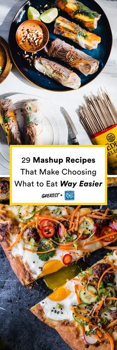 Making multiple cravings a single-dish solution.  #greatist https://greatist.com/eat/fusion-cuisine-healthy-mashup-recipes