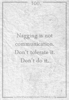 Don't nag
