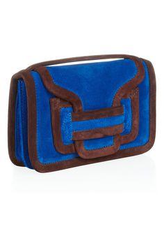 Pierre Hardy Contrast-trim suede shoulder bag NET-A-PORTER.COM