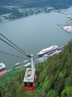 Juneau, Alaska, Mt. Robert's tram, amazing! Loved this Tram ride even though I'm afraid of heights