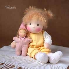 Waldorf handmade toys.  Fair Masters - handmade Waldorf doll Fidget with gnome.  Handmade.