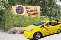 Yellow Cab 95 hired for the day for a trip to Butchart Gardens on Vancouver Island