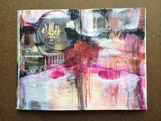 Art journal pages in progress - by bun - artist: roxanne coble Art Journal Pages, Art Journal Backgrounds, Artist Journal, Artist Sketchbook, Art Journals, Visual Journals, Journal Ideas, Sketchbook Inspiration, Sketchbook Ideas