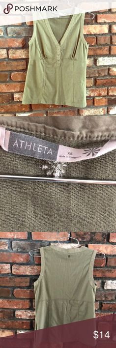 Athleta fitted tank Versatile cotton tank by Athleta would be great to wear for your morning walk, at the gym, or even just around town.  Zippered pocket on left side.  *All clothing from my closet comes from a smoke-free and pet-free home. Athleta Tops Tank Tops