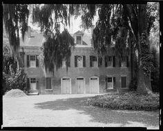 Hall House(Shadows on the Teche) rear elevation, New Iberia, Iberia Parish, Louisiana