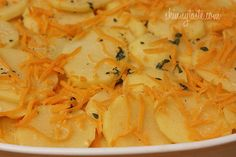Skinny Scalloped Potato Gratin -  potatoes, cheese, and healthy.....let's give this a try