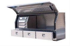 Truck Tool Box Ideas 2 – My work truck – - Modern Truck Tools, Truck Tool Box, Truck Bed Storage, Tool Storage, Secure Storage, Accessoires 4x4, Ute Trays, Welding Trucks, Work Trailer