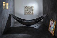 Vessel: Futuristic bathtub hammock for total relaxation