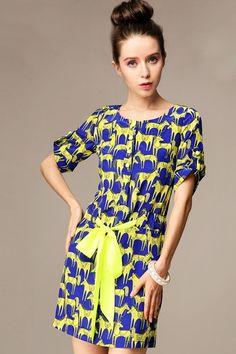 Horse Graphic Shirt Dress - OASAP.com