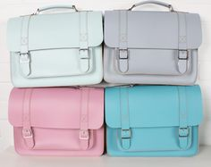 perfect pastels - boho briefcases    www.bohemiadesign.co.uk