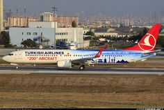 Turkish Airlines TC-JYI Boeing 737-9F2/ER at Istanbul Ataturk Apt (IST). '200th Aircraft special livery'.