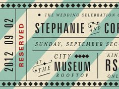 Atop the City RSVP ticket by Mary Frances Foster