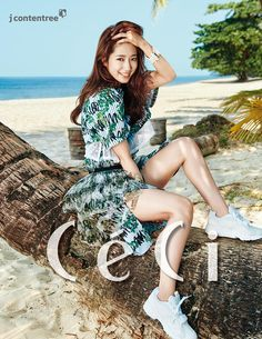 Park Shin Hye Basks In The Thailand Sun For CéCi's March 2015 Issue | Couch Kimchi