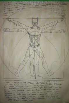Vitruvian Batman | 20 Spectacularly Nerdy ArtJokes