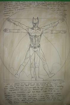 Vitruvian Batman | 20 Spectacularly Nerdy Art Jokes