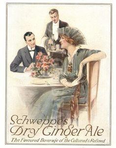 Schweppes Ginger Ale advertisement circa 1914.