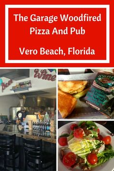 Thinking about pizza or a delicious salad? The Garage Woodfired Pizza and Pub is a great Vero Beach, Florida choice to have a tasty meal and save yourself from cooking. Pair that with a cold beer and sporting events on TV. Are you ready to go?