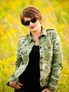 grey et al camo and red lips short hair pixie cut shorthair pixiecut look at the. Black Bedroom Furniture Sets. Home Design Ideas