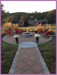 31 Inspiring DIY Fire Pit Plans & Ideas to Make S'mores with Your Family This Fall ~ Backyard Patio Designs, Backyard Landscaping, Patio Ideas, Firepit Ideas, Fire Pit Landscaping Ideas, Fence Ideas, Diy Fence, Wooden Fence, Fire Pit Plans