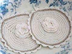 Topflappen Rose von White Roses auf DaWanda.com - VERKAUFT -