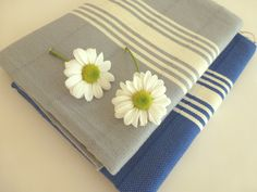 Set of 2 Natural Turkish hand or head towel Tea by TheAnatolian, $24.00