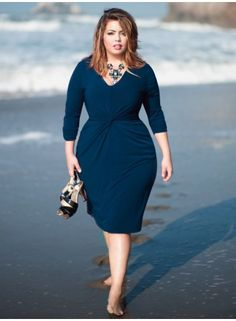 Forget Me Knot Dress in Pacific Blue
