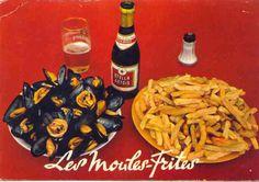 Moules frites, délicieux et convivial repas surtout primé lors de la réputée braderie de Lille en Septembre .... Miammm !