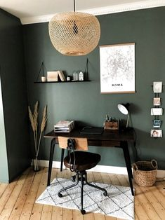 Decorative visit: the retro apartment in the attic of Glasses and Overalls . - Decorative visit: the retro apartment in the attic of Glasses and Overalls – private visit to the - Decor, Room, Home Office Decor, Home Decor Accessories, Retro Apartment, Interior, Home, House Interior, Apartment Decor