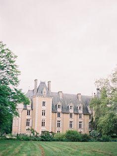 Elegant French Chateau Wedding via oncewed.com