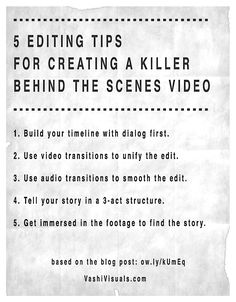 5 Editing Tips for a Behind the Scenes Video Film Tips, Film Theory, Films Cinema, Digital Film, Fiction Movies, Film Studies, Film School, Bts, Video Film