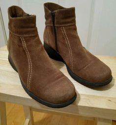 35.52$  Watch here - http://vidag.justgood.pw/vig/item.php?t=wczsak38616 - LaCanadienne Womens 9 M Brown Suede Waterproof Snowproof Boots