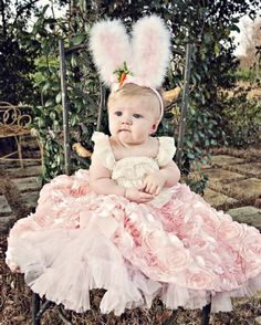 New Couture Pink Rosette Petti SkirtWow Spectacular for Portraits! Matching Accessories Available Too!Newborn to 8 Years