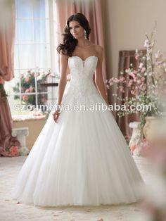 lace top wedding dresses  a-line wedding dress 2014  sweetheart bling wedding dress