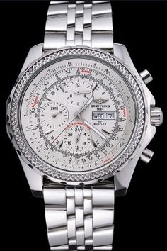 Replica Breitling Bentley GT Racing White Dial Stainless Steel Case And Bracelet 622219