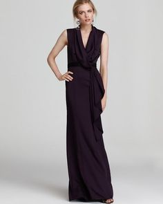 Max and Cleo by BCBG Draping Shawl  Gown