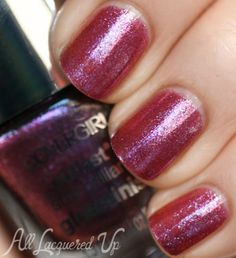 COVERGIRL Pyro Pink is more intense in person that it photographs. It's an icy fuchsia glass fleck with pops of pale blue and magenta. ---blogger says: I rea...