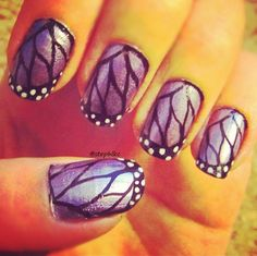 #purple #butterfly #nails #nailart