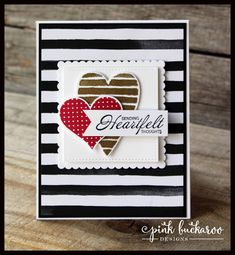 Pink Buckaroo Designs: Heart Happiness and Sure Do Love You- Stamp Club To Go