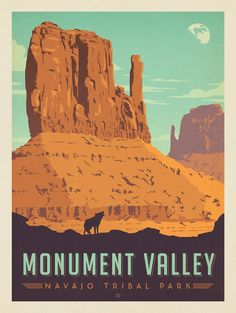 Monument Valley Navajo Tribal Park Art & Soul of America Poster American National Parks, Us National Parks, Parc National, Vintage National Park Posters, Monument Valley, Voyage Usa, Retro Poster, Poster Vintage, Print Poster